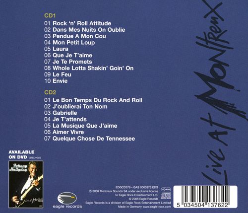 Johnny Hallyday CD edgcd376gas0000376edga Live at Montreux