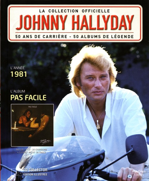 collection johnny hallyday 1981 pas facile 276437 5. Black Bedroom Furniture Sets. Home Design Ideas
